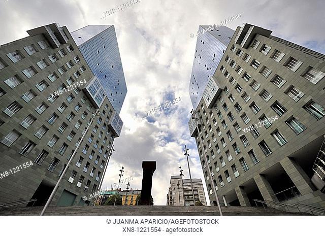 Towers designed by Japanese architect Arata Isozaki, Bilbao