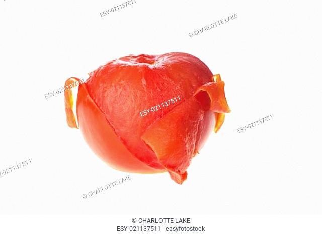 Half Peeled Tomato