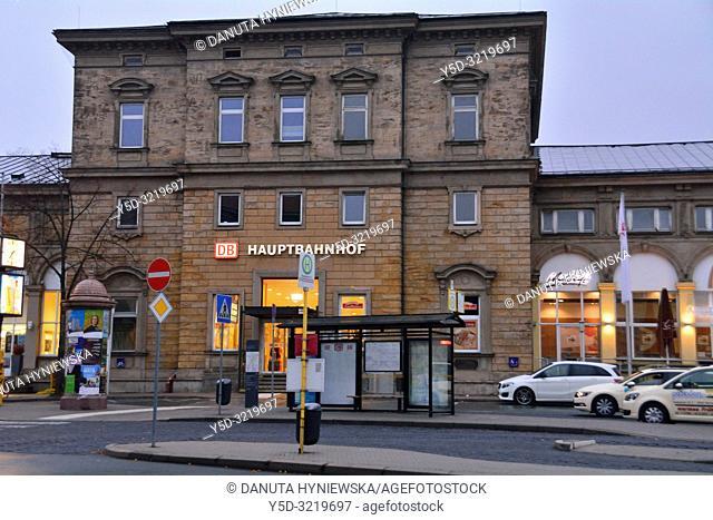 Bayreuth Hbf - Hauptbahnhof central train station, Bahnhofstrasse, Bayreuth, Upper Franconia, Bavaria, Bayern, Germany, Europe