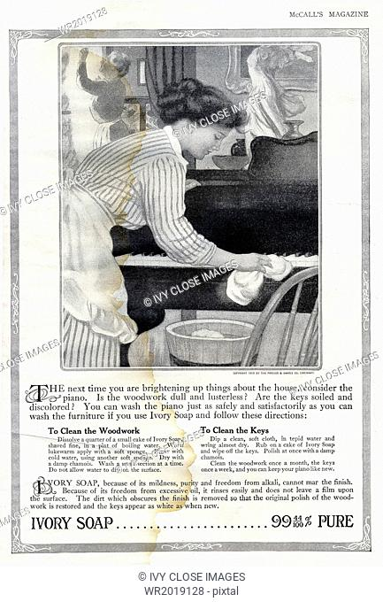 This advertisement for Ivory Soap appeared in McCall's Magaizne Vol XL No. 5 New York, January 1913