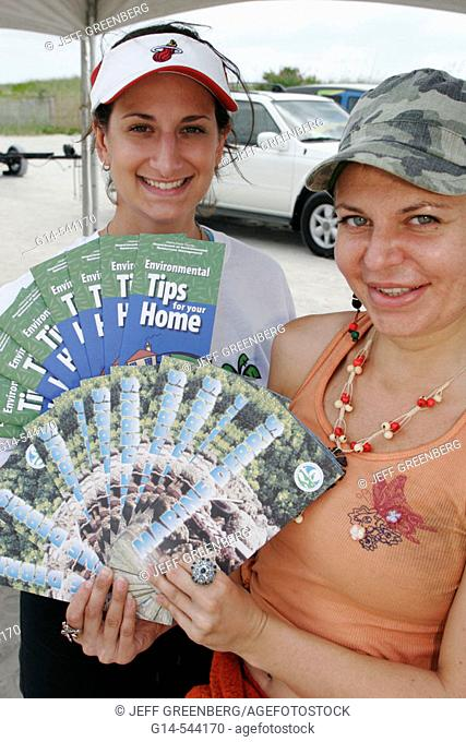 Department Environmental Resource Management, tips, brochure. Earth Day Expo. Lummus Park. Miami Beach. Florida. USA
