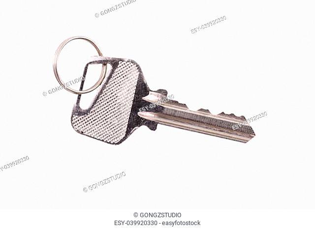 Door key isolated on white background