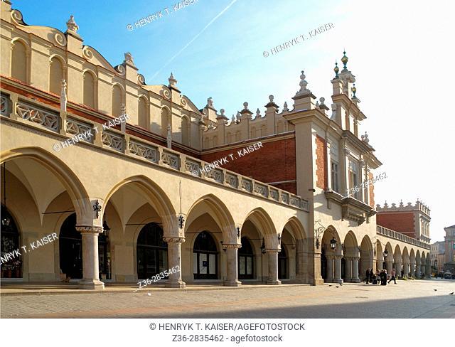 Cloth Hall at Main Market Square, Krakow, Poland