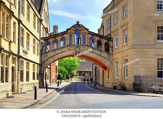 Bridge of Sighs, Oxford, Oxfordshire, England, United Kingdom
