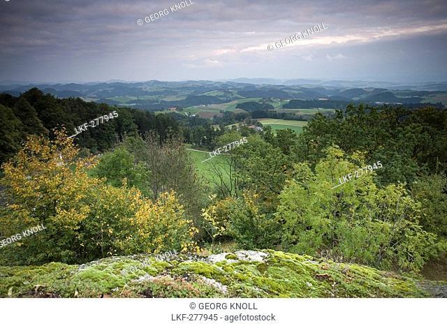 Scenery in Muehlviertel, St. Thomas am Blasenstein, Upper Austria, Austria