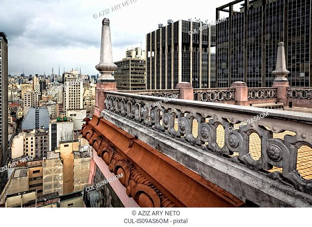 Elevated view of Martinelli building roof terrace, Sao Paulo, Brazil