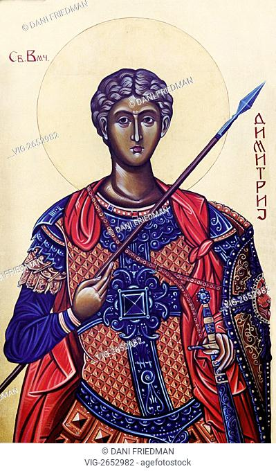 An Orthodox icon depicting Saint Demetrius of Thessaloniki. During the Middle Ages, Saint Demetrius came to be revered as one of the most important Orthodox...