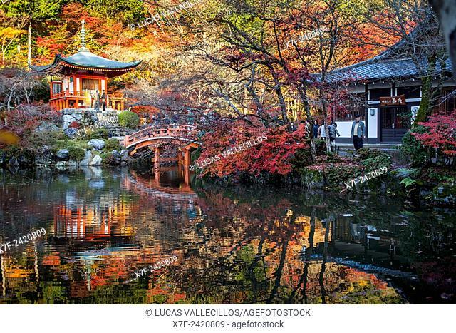 Bentendo at left and Juan at right, Daigo-ji Temple, Kyoto City , Kansai, Japan