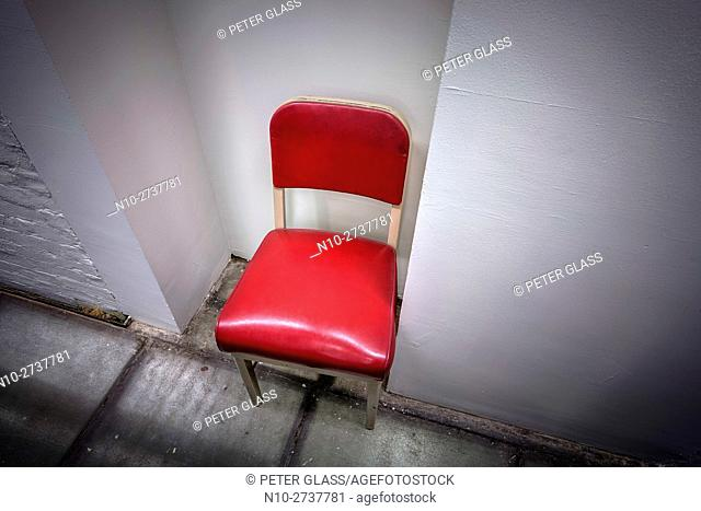 Empty chair in a building