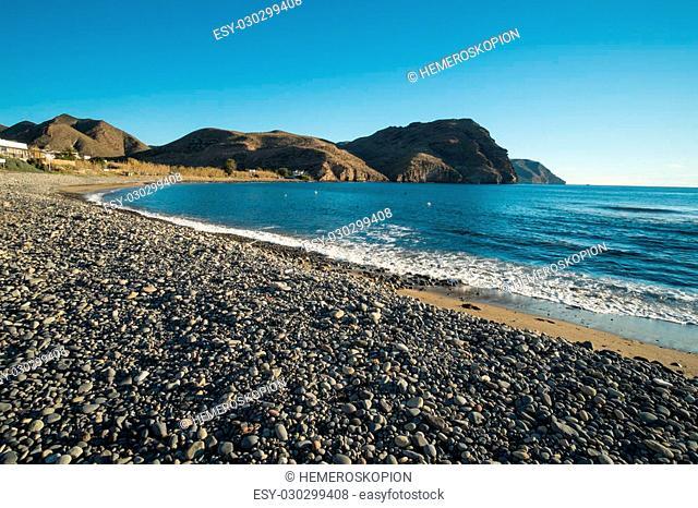 Calm waters of Las Negras Beach, Cabo de Gata, Spain