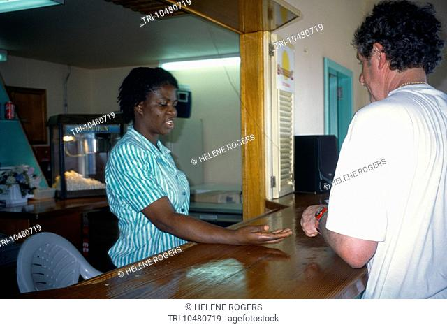 Shirley Heights Antigua Woman Working At Dow Hill Interpretation Centre Cafe