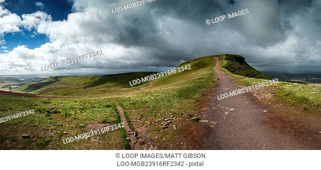 Brecon Beacons National Park panorama landscape