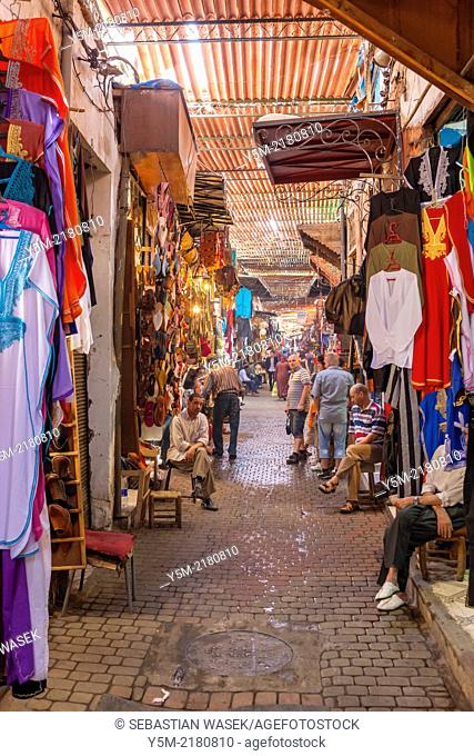 Shops in the souk, Medina, Marrakech, Morocco, North Africa