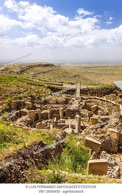 Archaelogical site of Gobekli Tepe. Built by hunter-gatherers in the 10th millennium BC, it is the oldest known human-made religious structure