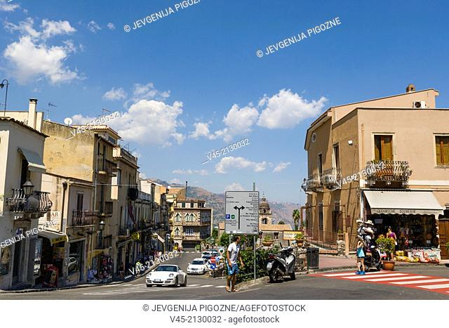 Via Luigi Pirandello, Taormina, Messina, Sicily, Italy