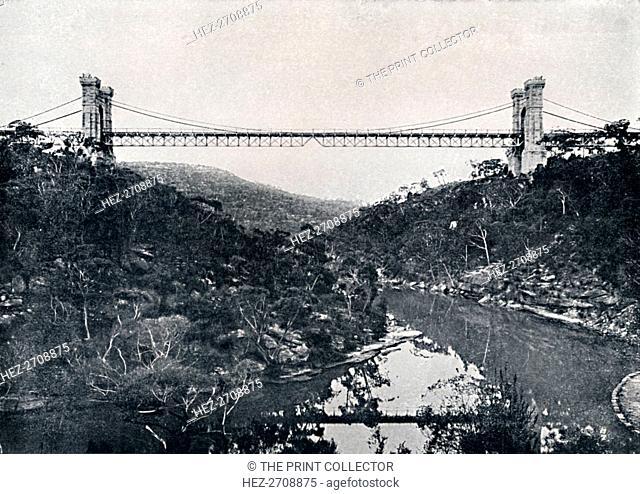 'Suspension Bridge, Middle Harbour, c1900. Creator: Unknown