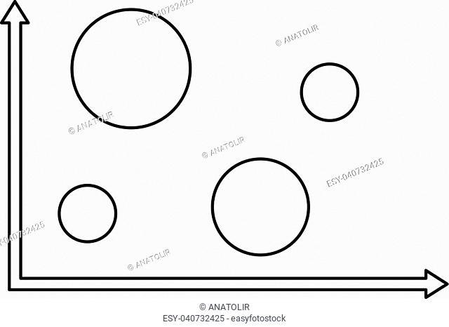 Finance diagram icon. Thin line illustration of diagram vector icon for any web design