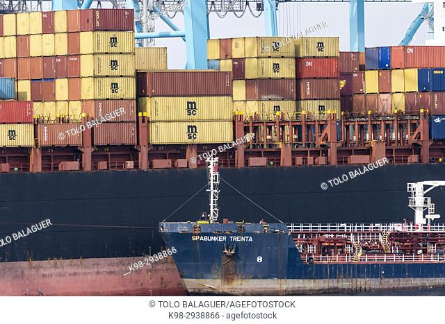 Cargo containers, Port of Bahía de Algeciras,Andalucia, Spain