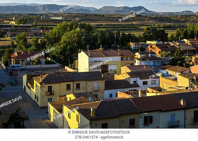 Aerial view of Sentiu of Sio, Lerida province, Catalonia, Spain