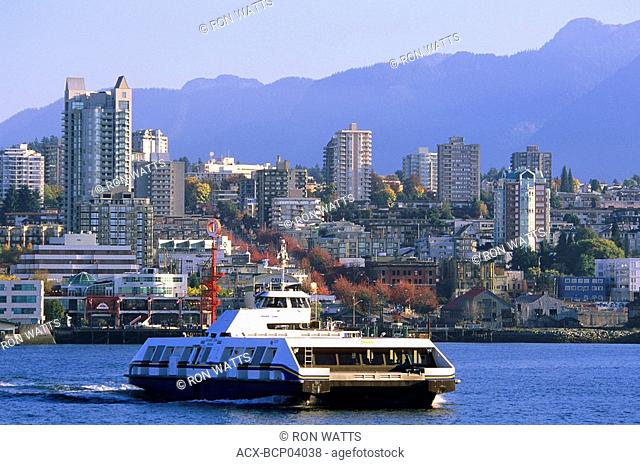Sea Bus crossing Burrard Inlet, Vancouver, British Columbia, Canada