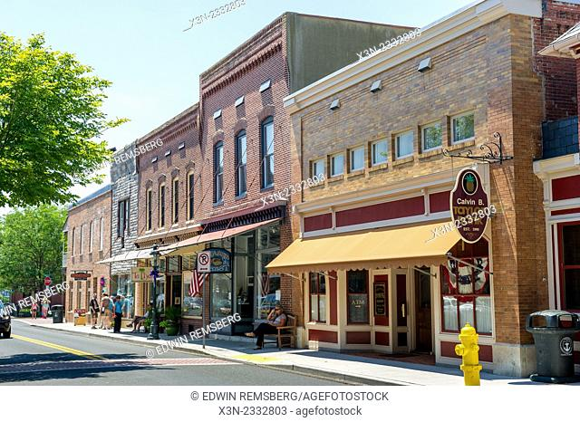 Downtown scene of Berlin, Maryland, USA
