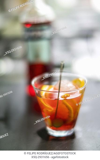 Glass of spritz aperitif, Venice, Italy