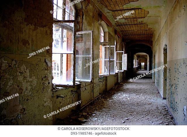 Long Hall in an abandoned Hospital near Berlin Germany