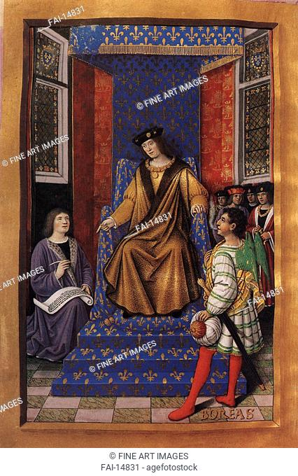 Louis XII of France (from the Poetic Epistles of Anne of Brittany and Louis XII). Bourdichon, Jean (1457-1521). Tempera and gold on parchment