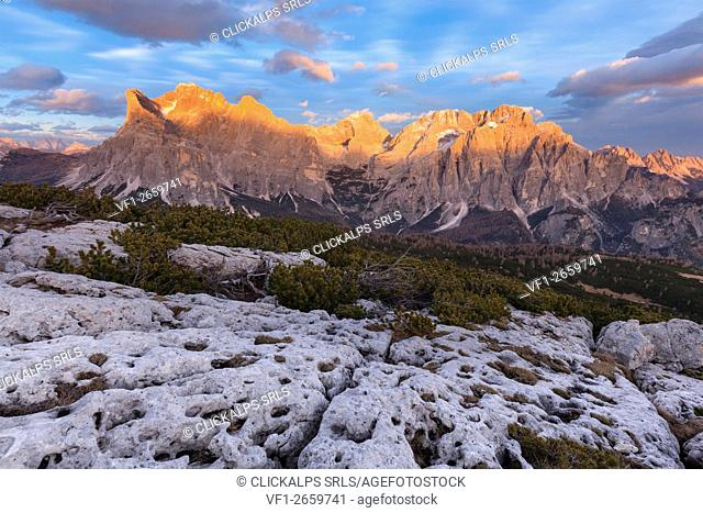 Europe, Italy, Veneto, Belluno. Civetta and Moizza mountains, Dolomites