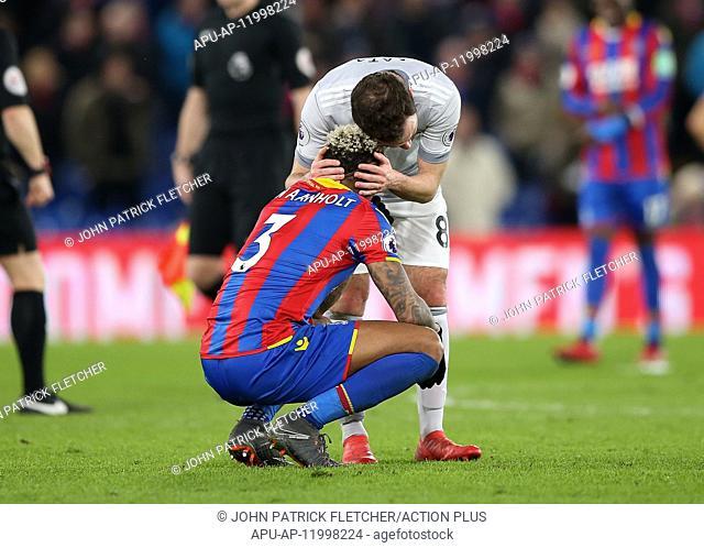 2018 Premier League Football Crystal Palace v Man Utd Mar 5th. 5th March 2018, Selhurst Park, London, England; EPL Premier League football