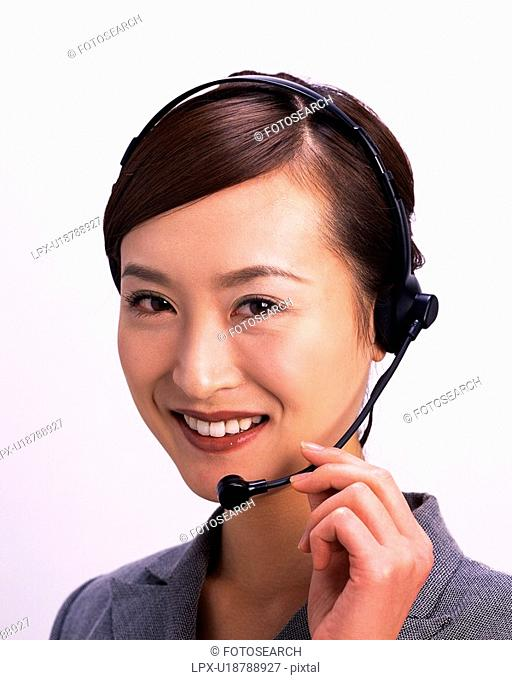 Headset Holds Mic Stock Photos And Images Age Fotostock