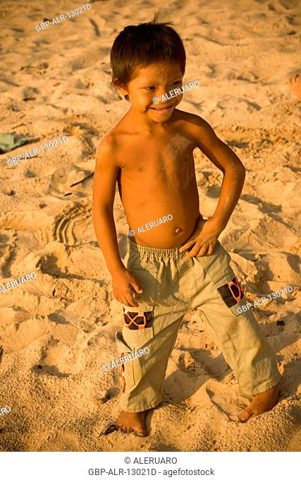 Boys Smiling, Terra Preta Community, Cuieiras River, Amazônia, Manaus, Amazonas, Brazil