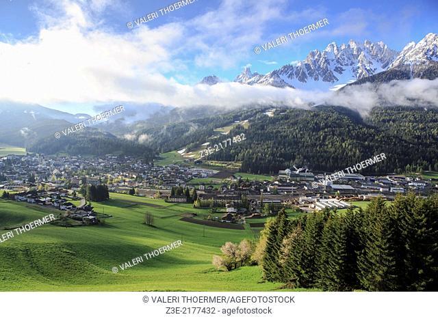 Hochpustertal valley area near Innichen in South Tirol, Italy