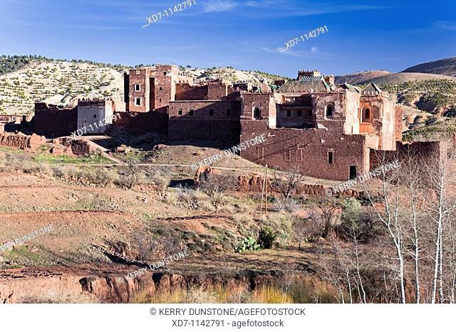 Morocco High Atlas Mountains Telouet Kasbah el Glaoui