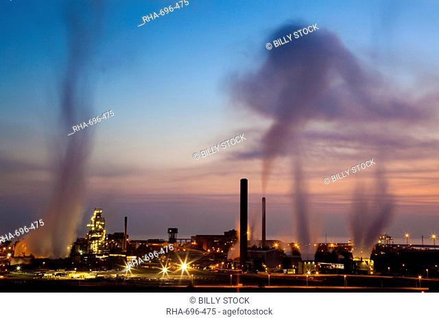 Blast furnaces, Corus Steelworks, Port Talbot, Glamorgan, Wales, United Kingdom, Europe