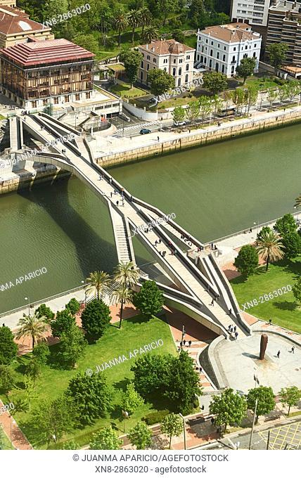 Pedro Arrupe Bridge, Bilbao, Biscay, Spain, Europe
