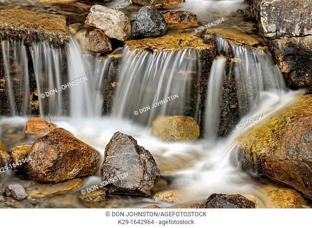 O'Shaughnessy Creek waterfall, Kananaskis country, Alberta, Canada