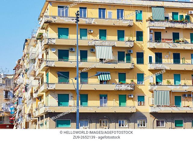 Urban apartments, Naples, Campania, Italy, Europe