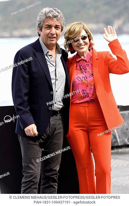 Ricardo Darin and Mercedes Moran attending the 'An Unexpected Love / El amor menos pensado' photocall during the 66th San Sebastian International Filmfestival /...
