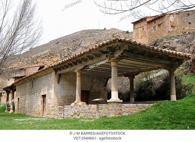 Alcala de la Selva, San Roque and Nuestra Senora de Loreto hermitages. Gudar-Javalambre region, Teruel province, Aragon, Spain