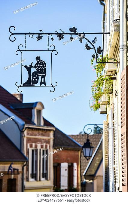 Taught winemaker Champagne vineyards Oger in Marne department France Europe
