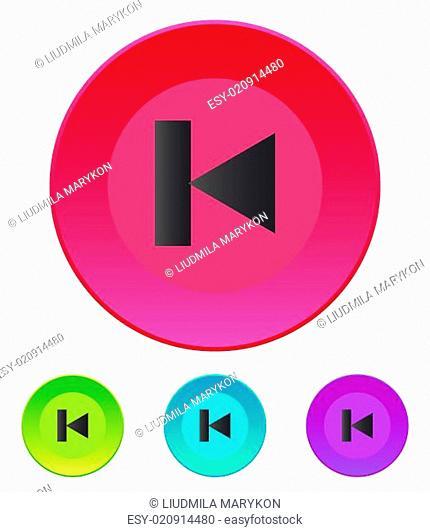Previous track web icon. Media player