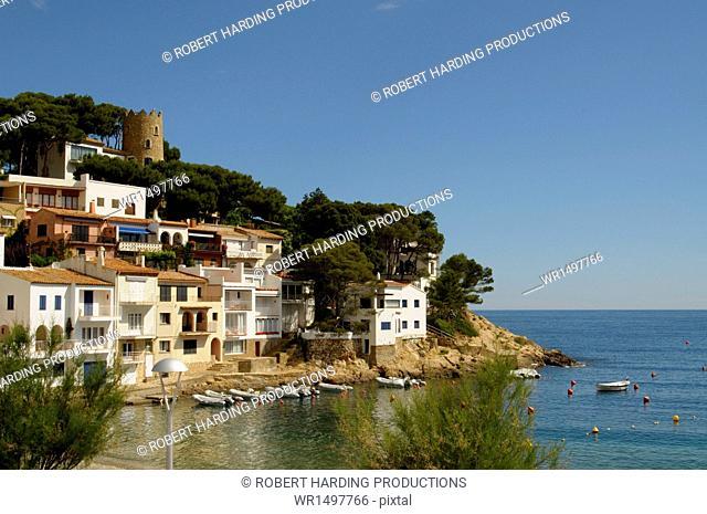 The beautiful cove of Sa Tuna, near Begur, Costa Brava, Catalonia, Spain, Mediterranean, Europe