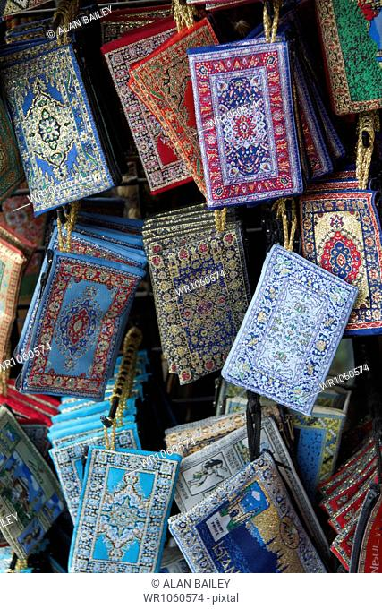 Turkey, Grand Baazar, Close up of colorful souvenirs