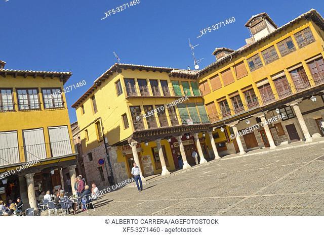 Main Square, Old Town, Tordesillas, Valladolid, Castilla y León, Spain, Europe