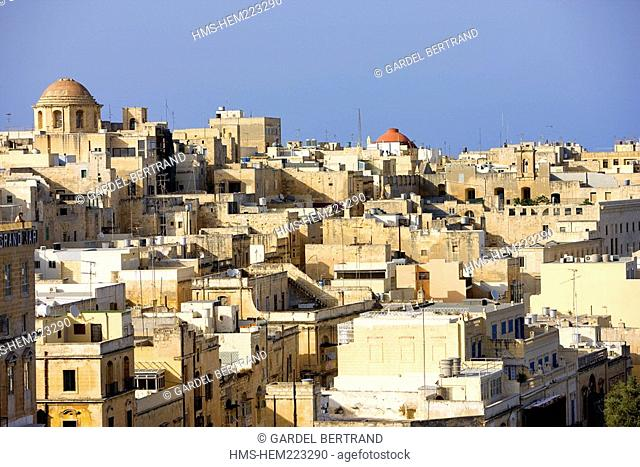Malta, Valletta listed as World Heritage by the UNESCO, the old city