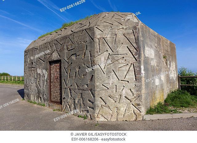 Bunker in Dieppe, Côte d'Albatre, Haute-Normandie, France