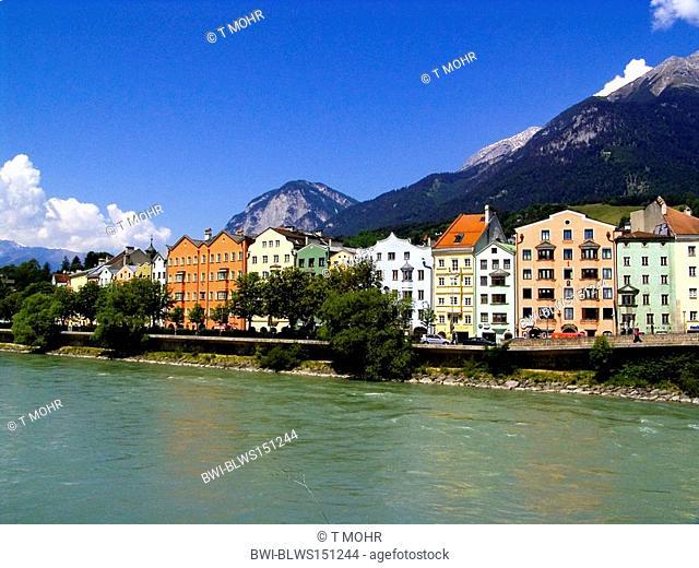 buildings near Inn River, Austria, Innsbruck