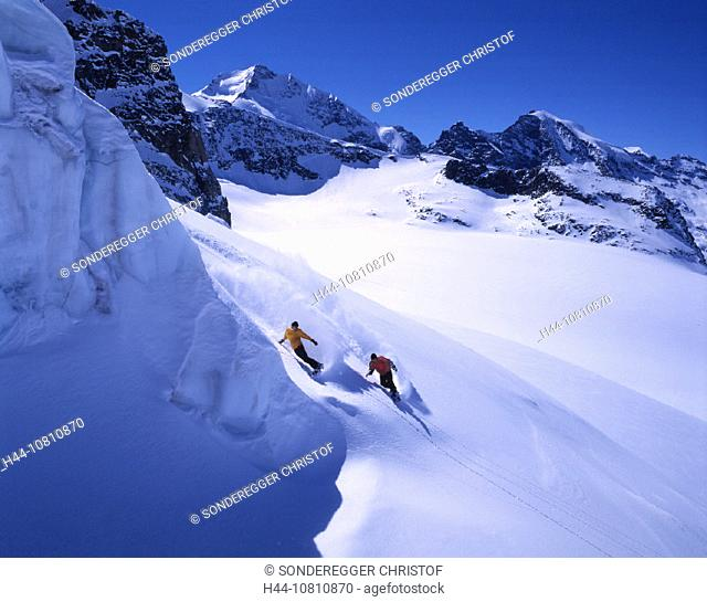adventure, Piz Bernina, Bernina region, departure, Engadin, fresh, Grisons, Graubunden, Piz Morteratsch, nature, Per