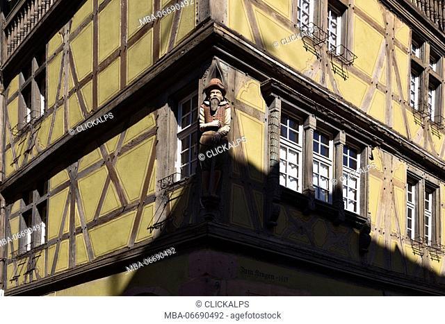 Colmar, Alsace, France. Typical alsatian houses
